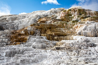 "The ""stairs"" at the eastern side of Mammoth Hot Springs.  ©2019 Henry S. Winokur"