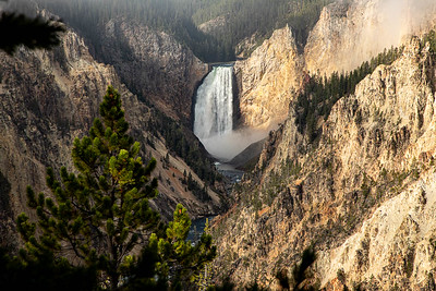 Lower Yellowstone Falls in the Grand Canyon of the Yellowstone.    Fog's almost gone!  ©2019 Henry S. Winokur
