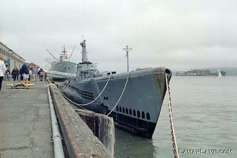 USS Pampanito SS-383 in San Francisco. Camera - Nikon FM; Lens - 35mm f/1.4 Nikkor-N Auto; Film - Kodak Ektar 100 developed in Rollei Digibase C41 Chemicals.  Scanned with Nikon CoolScan V ED.