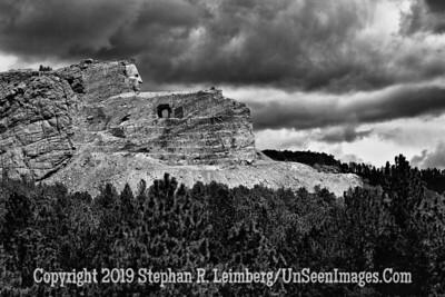 Crazy Horse 2 B&W JPG 20110621_Mt Rushmore Crazy Horse_8409