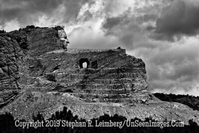 Crazy Horse 3 B&W JPG 20110621_Mt Rushmore Crazy Horse_8420