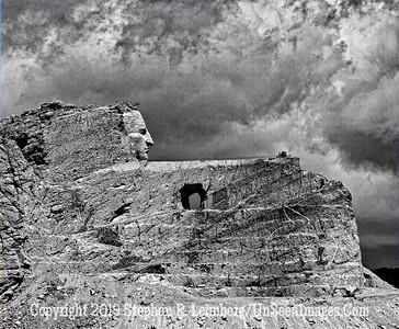 CRAZY HORSE 4 B&W JPG 20110621_Mt Rushmore Crazy Horse_8448