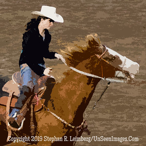 Woman Rider CUTOUT JPG 20110619_Rodeo - Cody - June 2011_8193