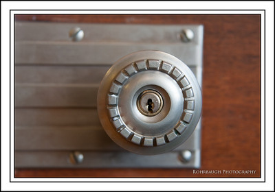 Door Knob detail in Board Room.
