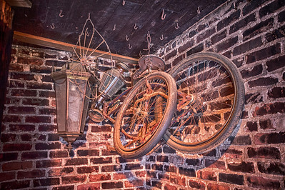 Elvis's bike.  This was in a corner in a room that Elvis used for a gun range.