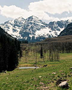 Maroon Bells; Aspen, CO (N60, scanned from negative)