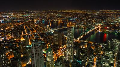 Manhattan and Brooklyn