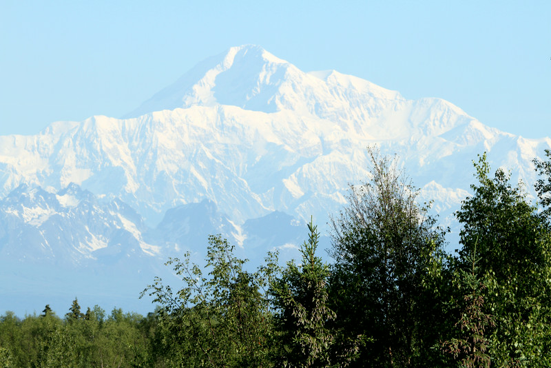 View of massive Mt. McKinley from a pull-off in Talkeetna.