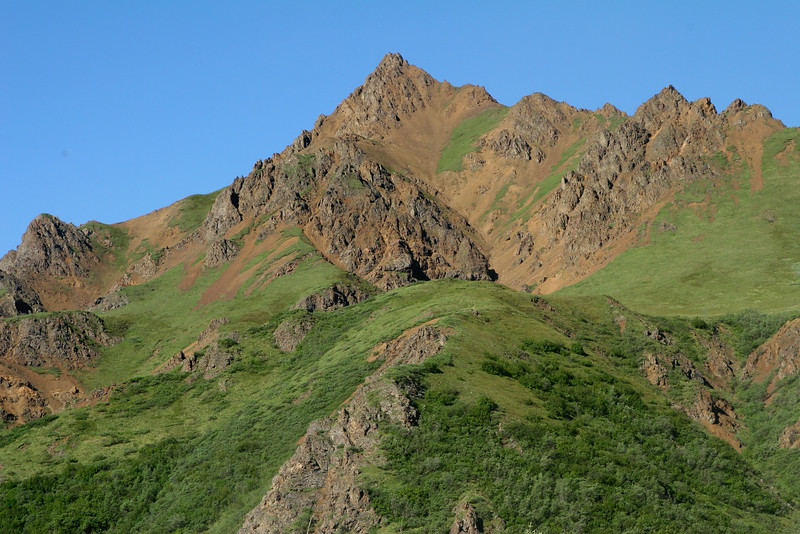 A peak near Denali National Park's Toklat River Rest Stop.