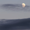 Moon and clouds at sunset - Seward.