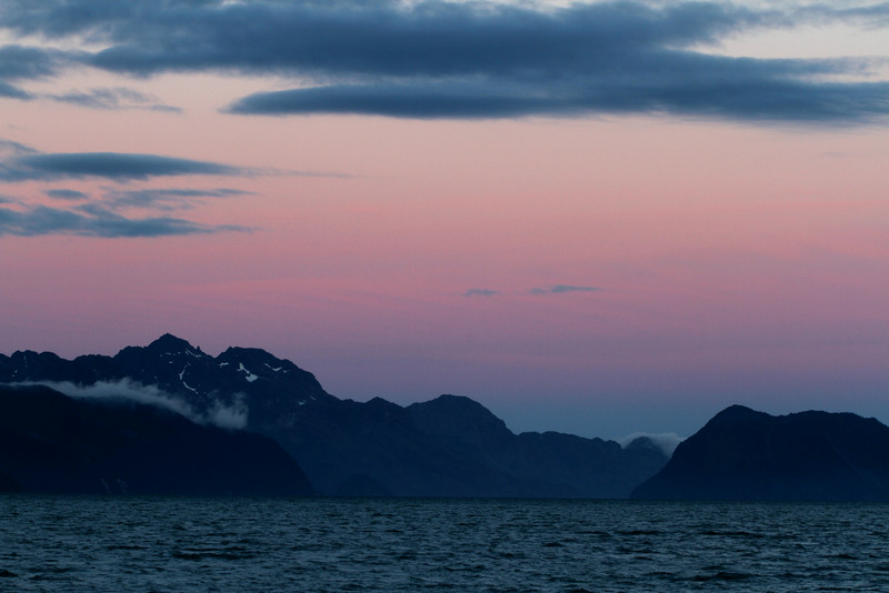 Resurrection Bay at sunset - after 11:00 p.m.