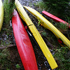Kayaks on Fox Island, Resurrection Bay, Kenai Peninsula.