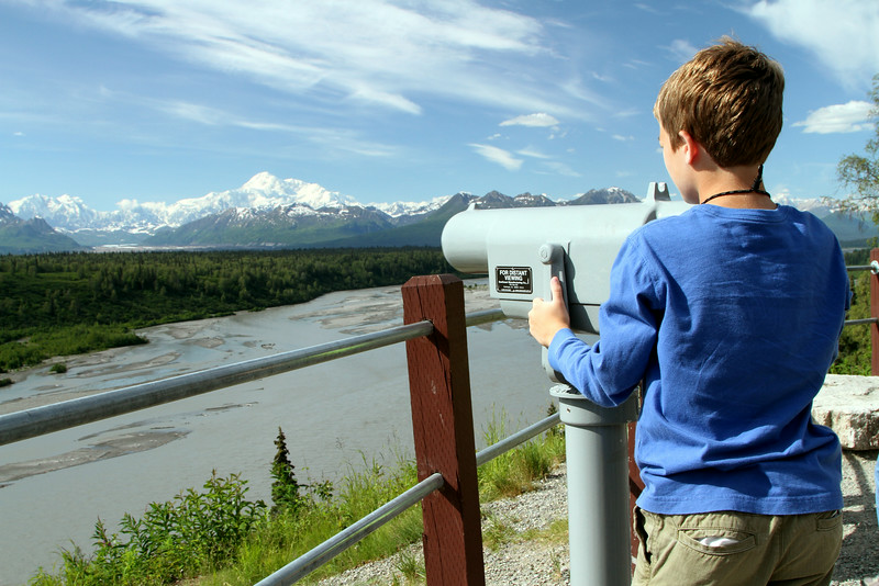 View from the Denali Viewpoint North on the road between Anchorage and Denali National Park.