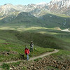 Hiking the Alpine Trail above Eielson Visitor Center, which rises 1,000 feet.