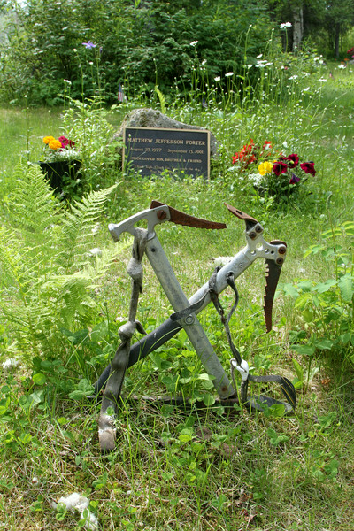 A climber is remembered at Talkeetna's cemetery.