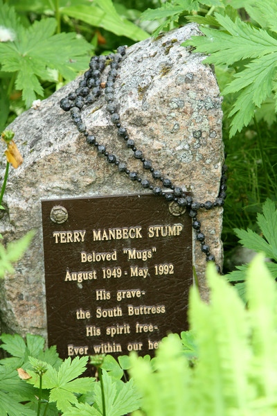 A poignant tombstone of a mountain climber sits in Talkeetna's tiny, quaint, and moving cemetery.