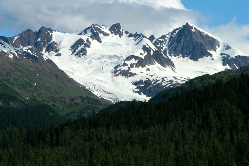 View of mountains near Exit Glacier
