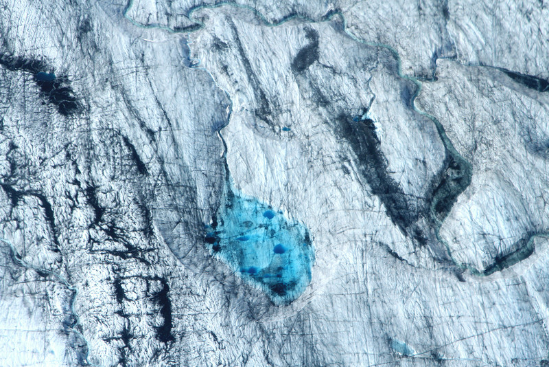 Blue glacial melt - Alaska Range