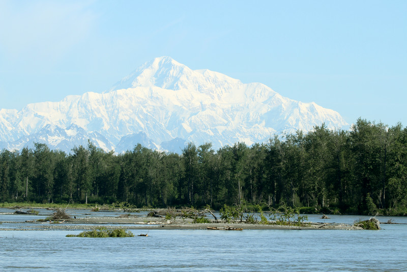 View of Mt. McKinley - Talkeetna's Riverfront Park.
