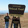 At the highest part of the Beartooth Highway