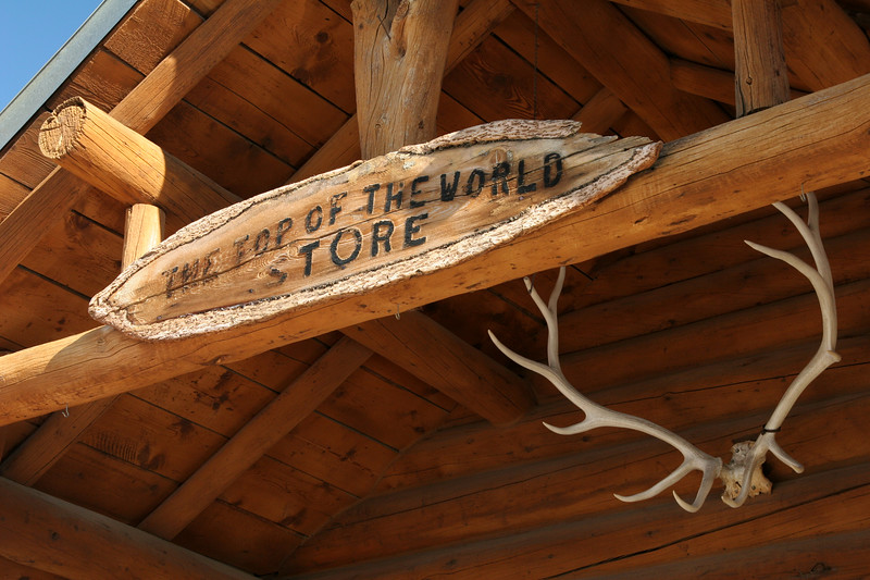 The Top of the World Store sign
