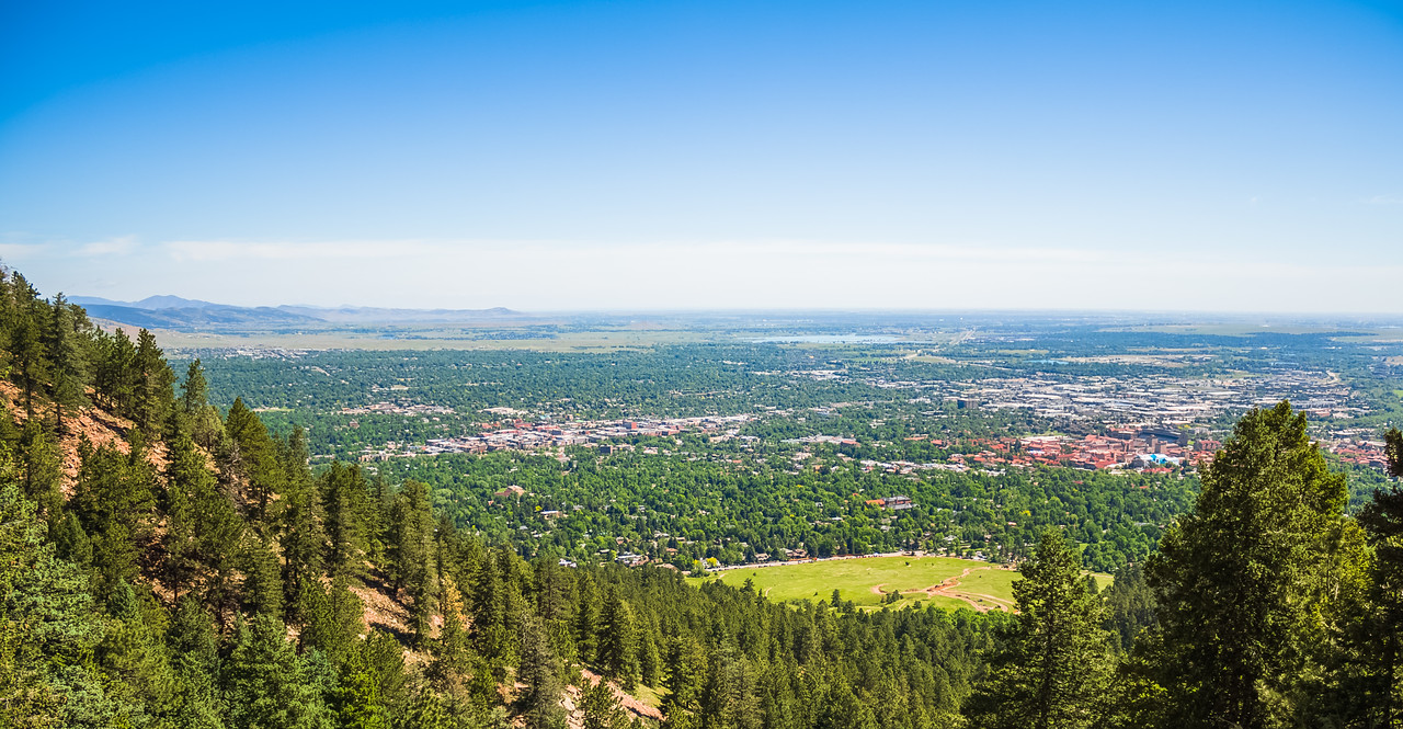 Boulder, Colorado from the Flatirons