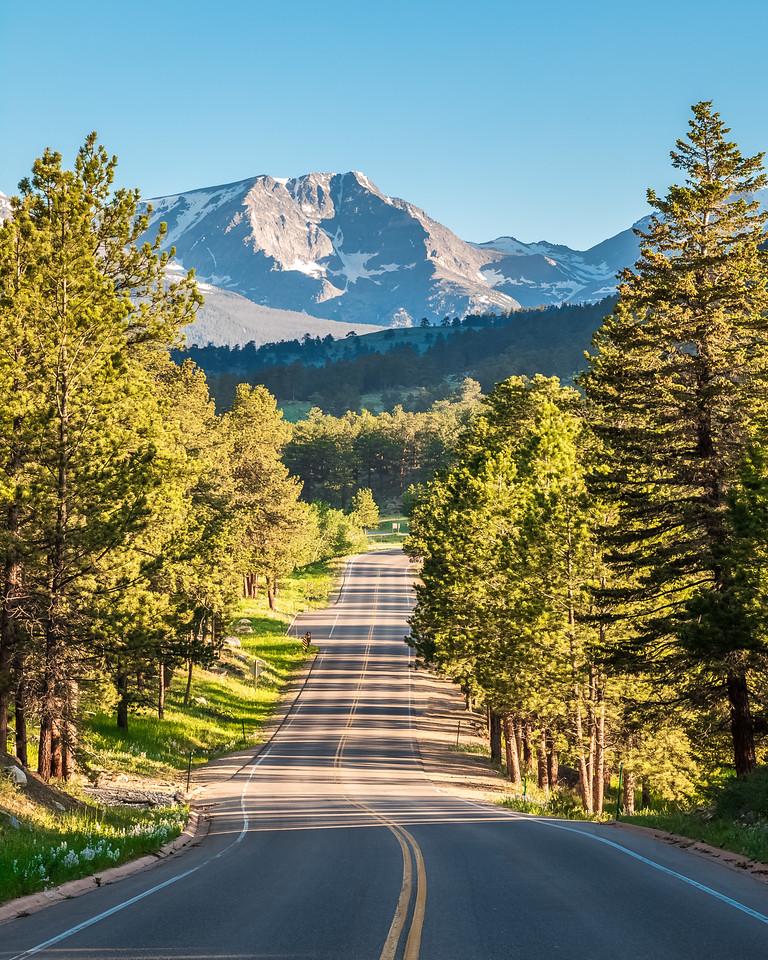 An incredible view of Mount Ypsilon as you come around the corner on Bear Lake Road, heading toward Trail Ridge Road.