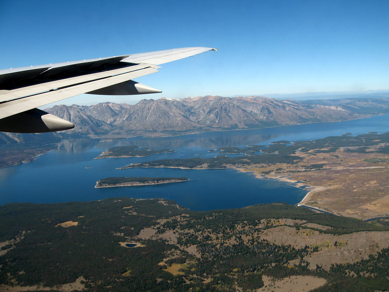 Jackson Lake from the air