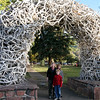 Arch of Elk antlers on main square in Jackson