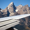 Landing - What a view of the Grand Teton Peak