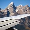 Landing - What a view of the Grand Teton Peak