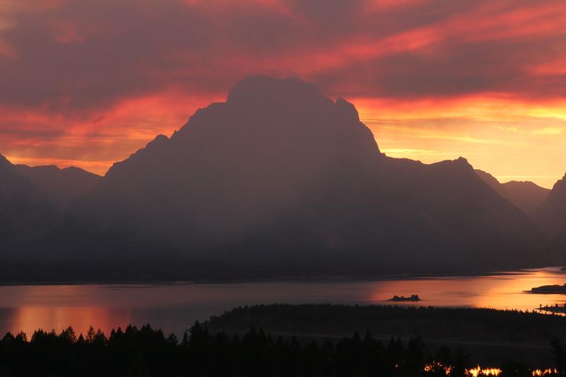 Fiery Sunset - Grand Teton National Park, Wyoming