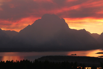 Fiery Sunset - Grand Teton National Park, Wyoming
