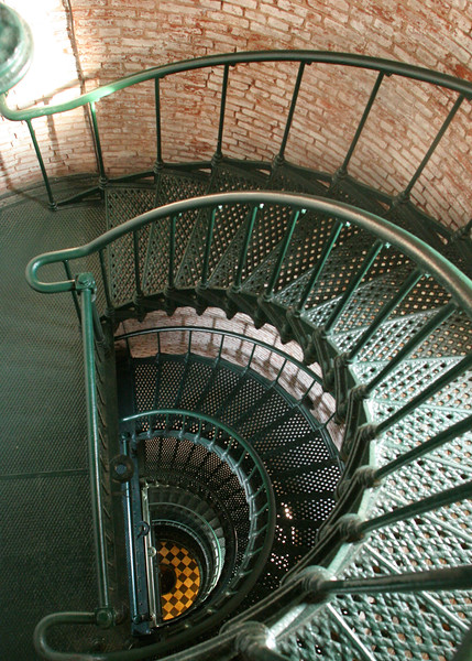 Interior of the Cape Hatteras Lighthouse - Cape Hatteras