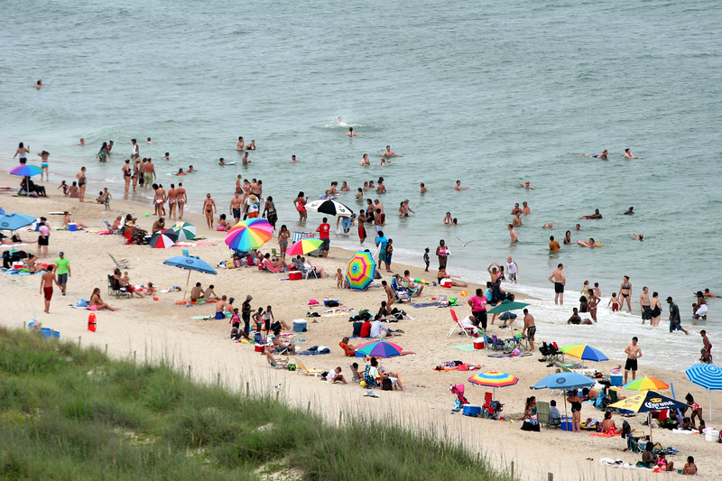 Beach Crowd on Carolina Beach