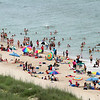 Beach Crowd on Carolina Beach