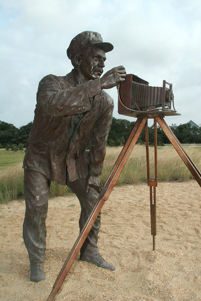Sculpture at the Wright Brothers Memorial - Kitty Hawk