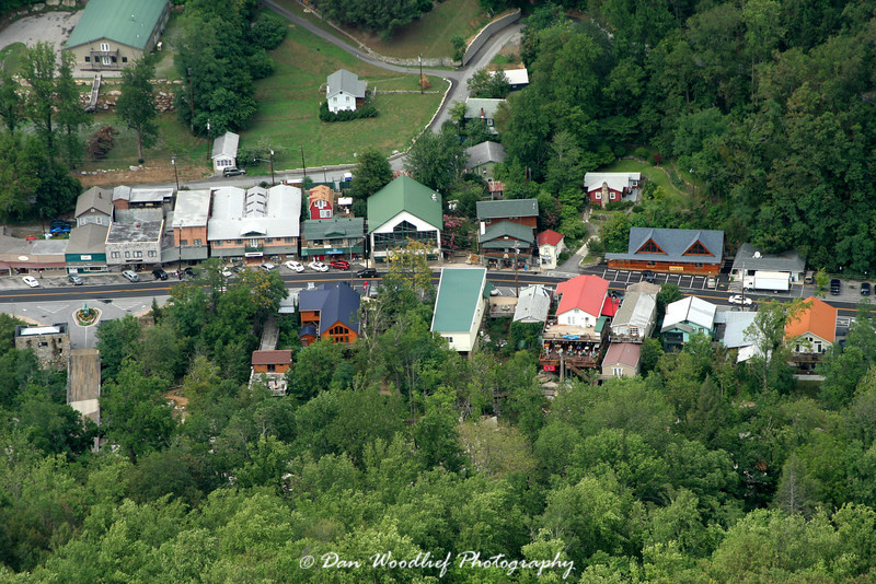 The town of Chimney Rock