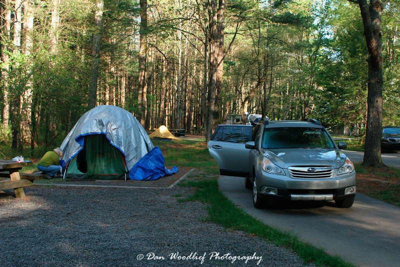 Campground in the Pisgah National Forest