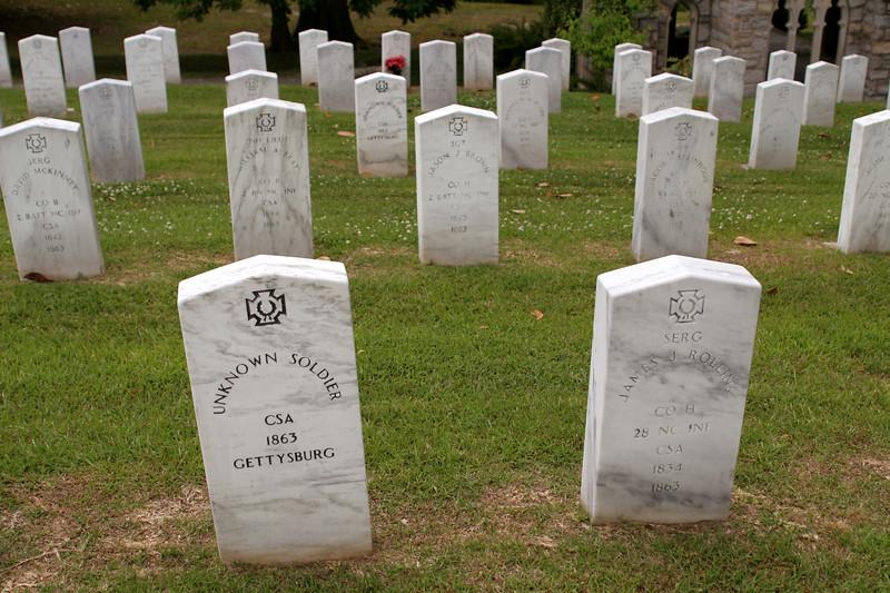 Gettysburg section of Oakwood Cemetery - Raleigh