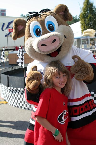 Stormy, the mascot of the Carolina Hurricanes hockey team - Raleigh