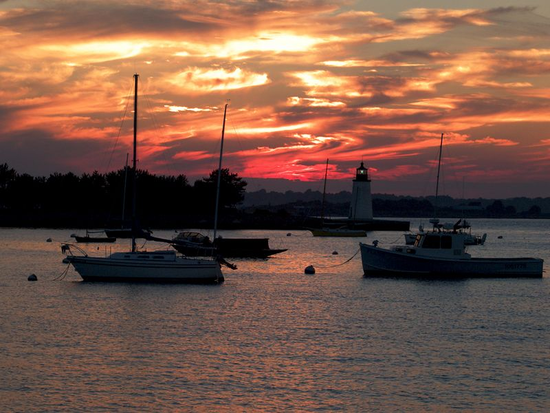 Sunset at Newport, Rhode Island