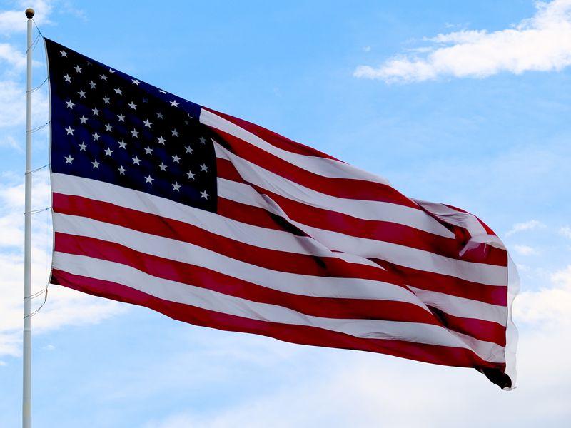U.S. Flag, McNeil Road, <br /> northwest Austin, TX.<br /> 2005.