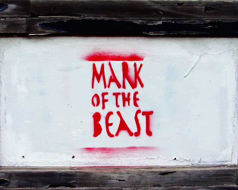 """Mark of the Beast""<br /> 2nd Street, Austin, TX.<br /> 2003"
