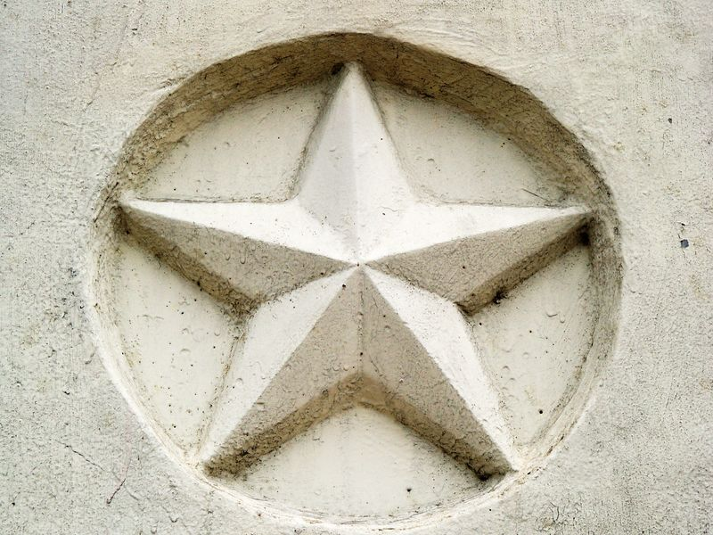 Unpainted Lone Star, South 1st St. Bridge, Austin, Texas.