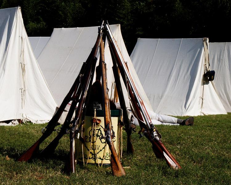 Yorktown, Virginia<br /> Yorktown Rifles and Drum<br /> Yorktown National Battlefield<br /> Washington/Cornwallis Siege & Re-enactment<br /> October 21, 2006