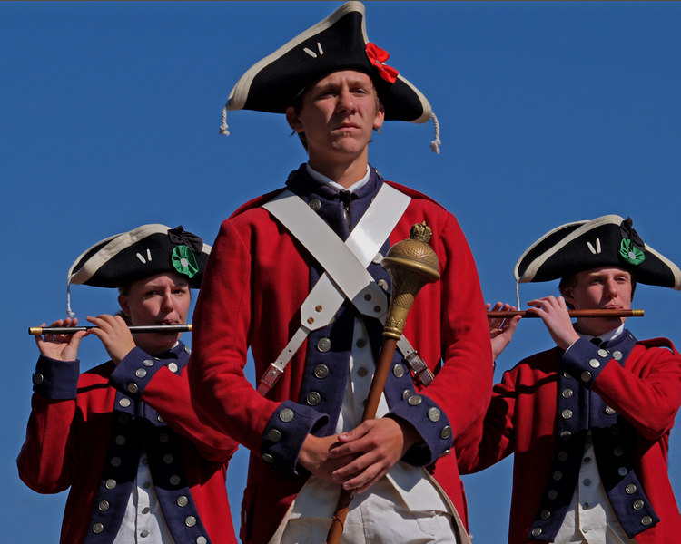 Yorktown, Virginia<br /> Deep River Jr. Ancients Fife & Drum Corps<br /> Yorktown National Battlefield<br /> Yorktown, Virginia  - October 21, 2006
