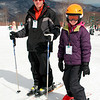 Photographer and daughter at Wintergreen Ski Resort
