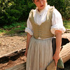 Guide talking about canoe building - Jamestown Settlement