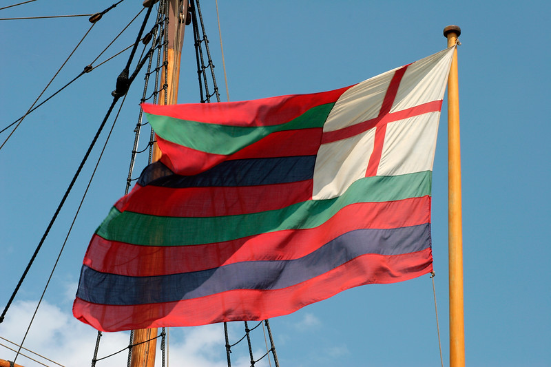 Ship's flag at Jamestown Settlement